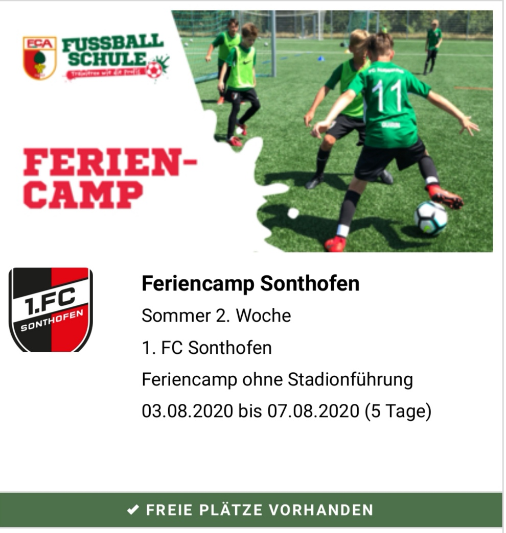 FC Augsburg Feriencamp findet auch 2020 wieder in der Baumit-Arena statt!