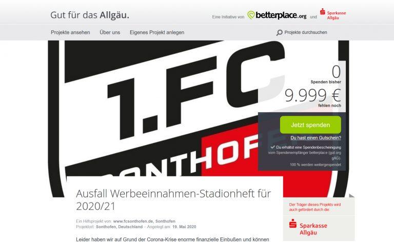 Spendenaktion mit Unterstützung der Sparkasse Allgäu