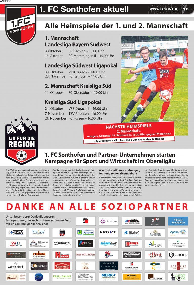 1.FC Sonthofen aktuell