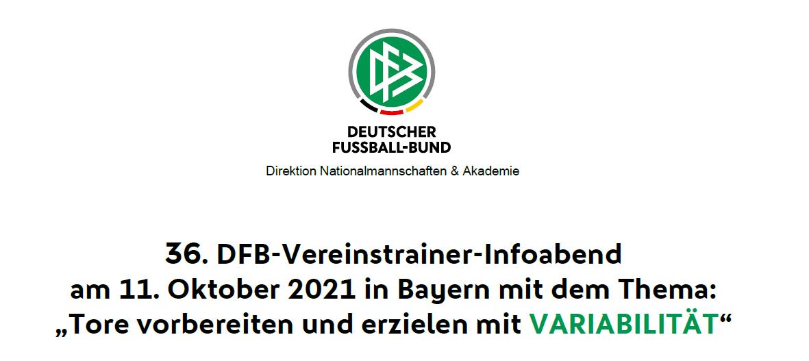 Vereinstrainer-Infoabend am DFB-Stützpunkt Sonthofen Montag, 11.Oktober um 18:00 Uhr
