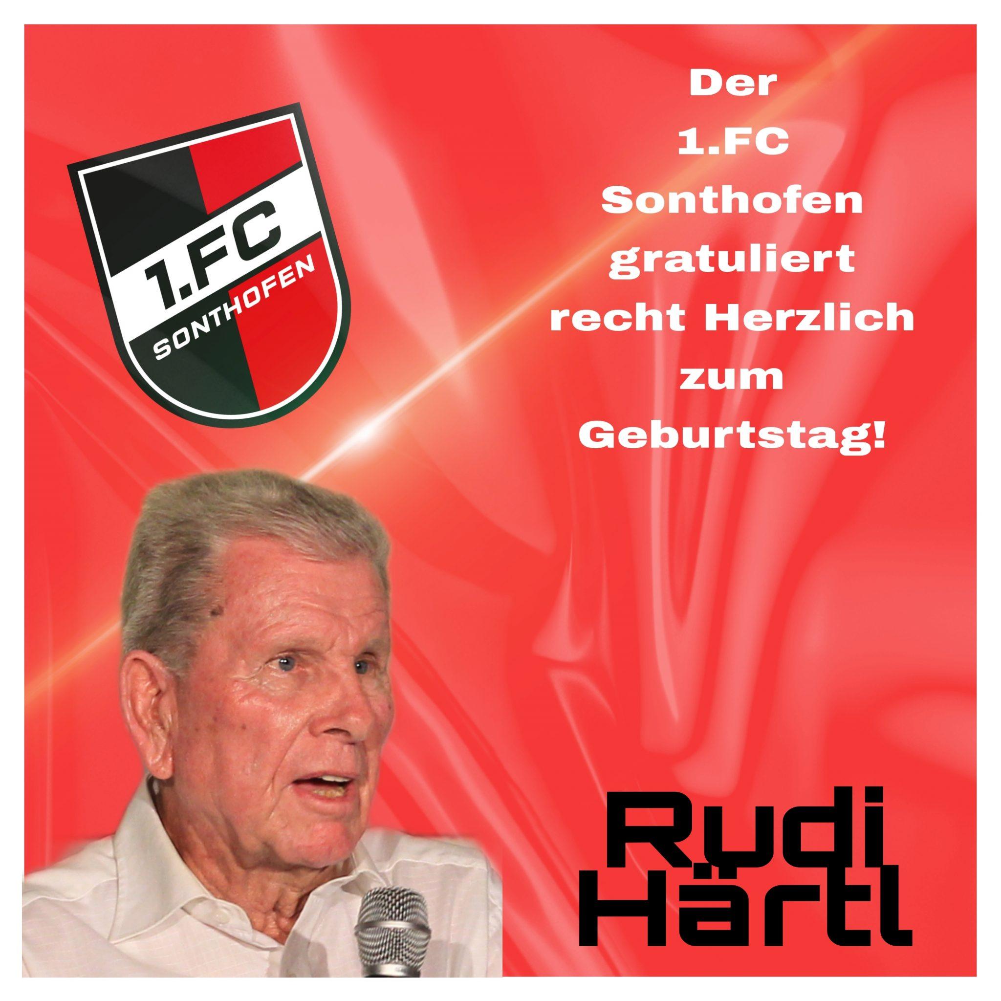 EHRENMITGLIED RUDI HÄRTL WIRD 85!